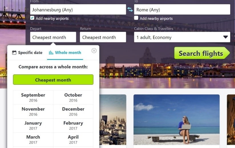 Skyscanner´s Cheapest Month