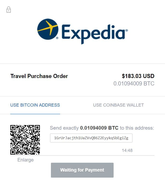 Expedia is one of the 7 ways to use cryptocurrency for travel