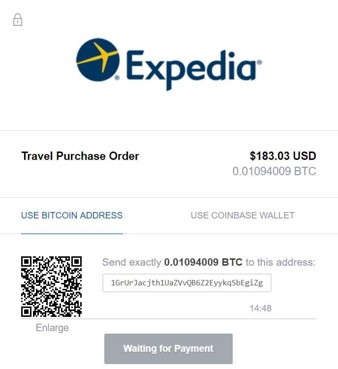 Expedia es una de las 7 formas de utilizar la criptomoneda para viajar
