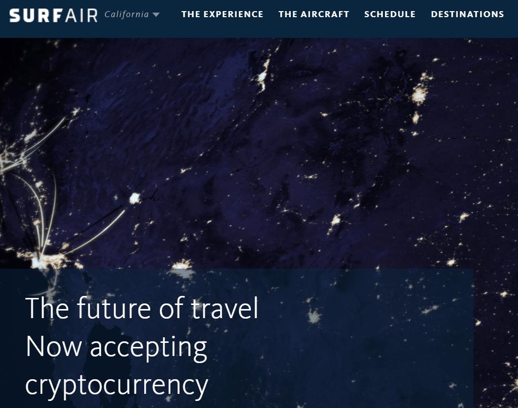 Surfair es una de las 7 formas de utilizar la criptomoneda para viajar