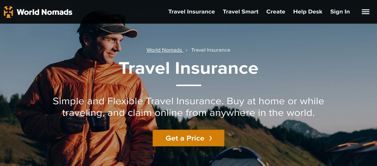world nomads travelers´ insurance policy