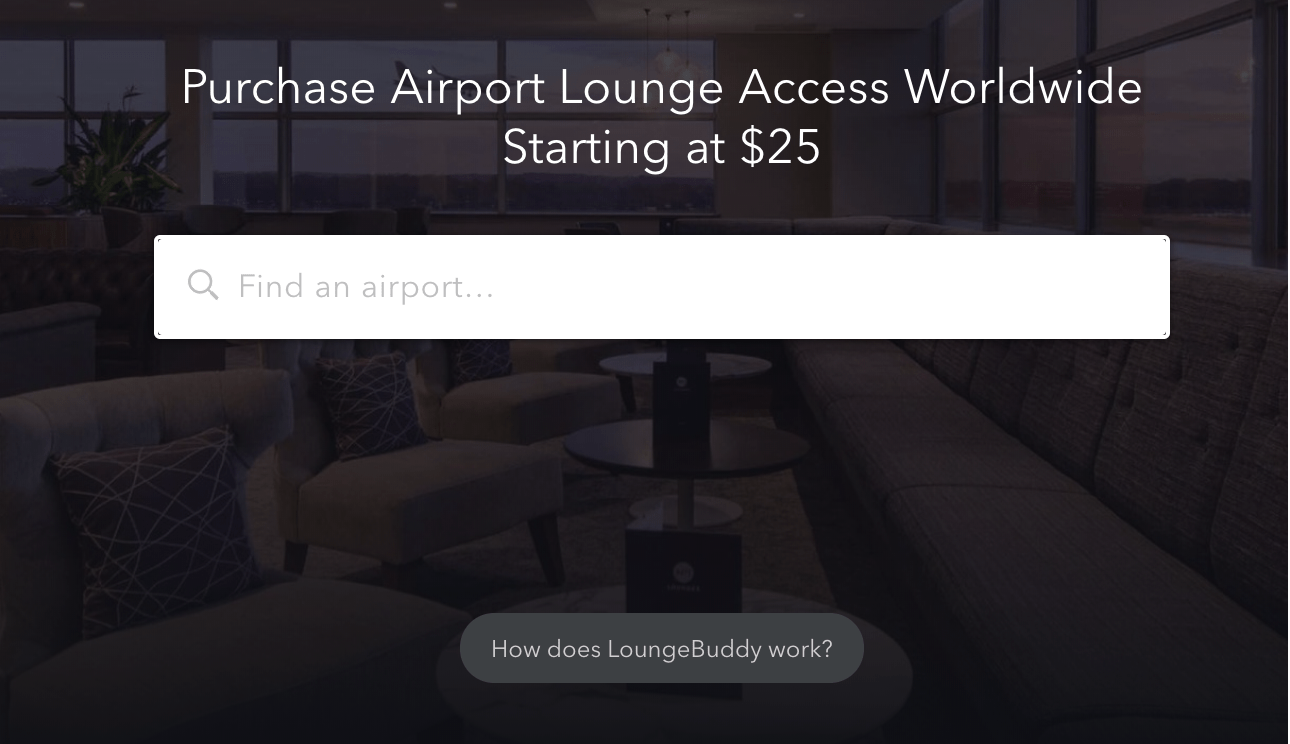 Lounge buddy travel site for finding great airport lounges