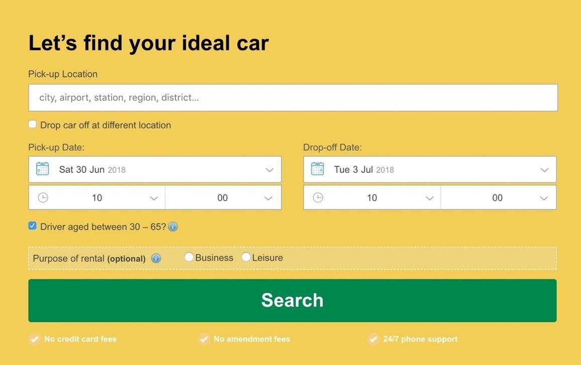 Rentalcars.com cheapest car rentals