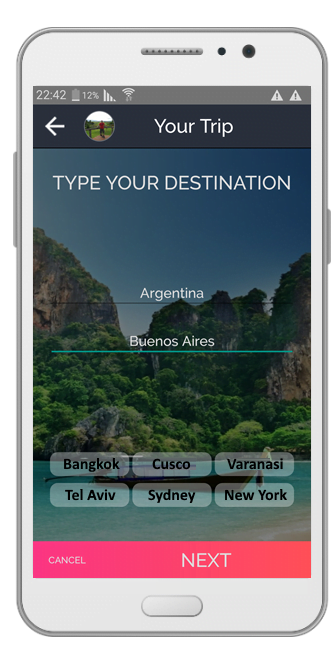 Travel app for meeting locals Travel Maker