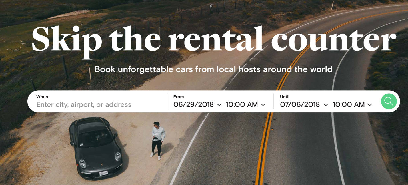 Turo travel site for car sharing