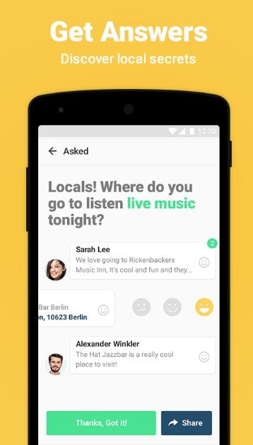 travel app for getting to know locals - knowers app