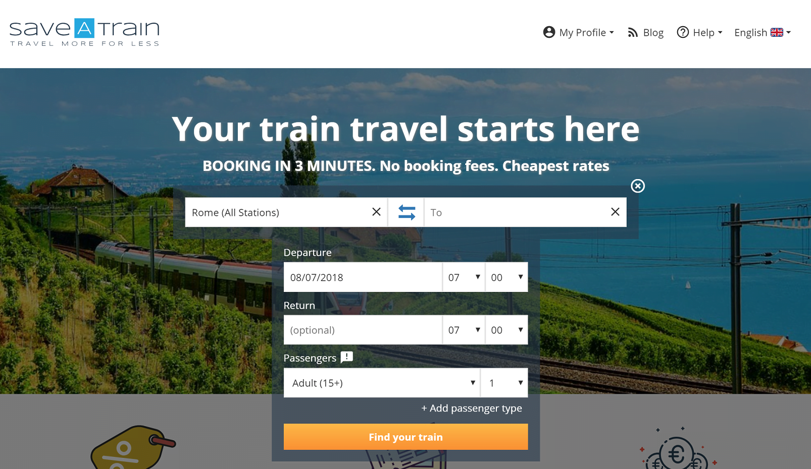 save a train travel site