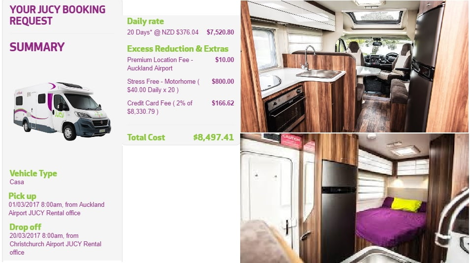 Renting a motor home in New Zealand