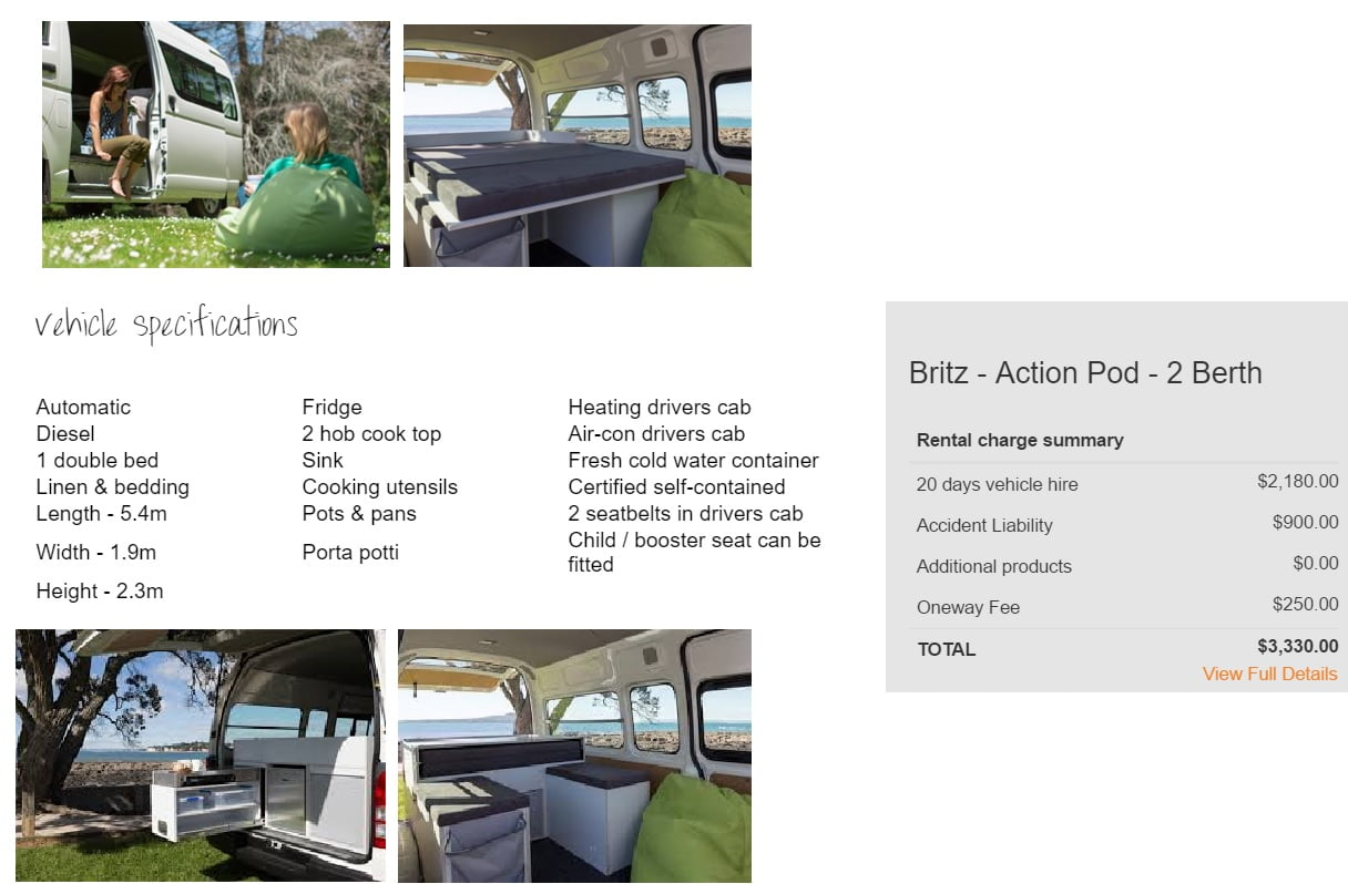rent a motorhome in New Zealand