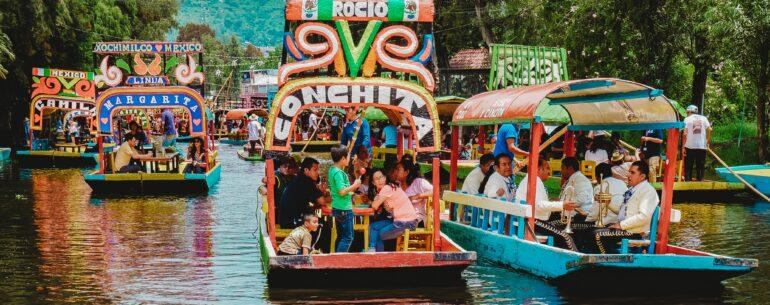 las trajineras como uno de los 10 mejores lugares de México