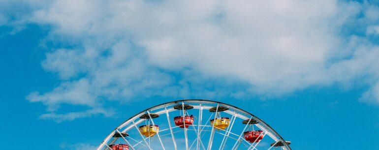 Rueda de Chicago representando los Mejores parques de atracciones de Estados Unidos