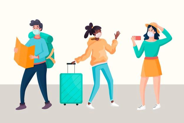 Turistas que ilustran cómo evitar las estafas turísticas