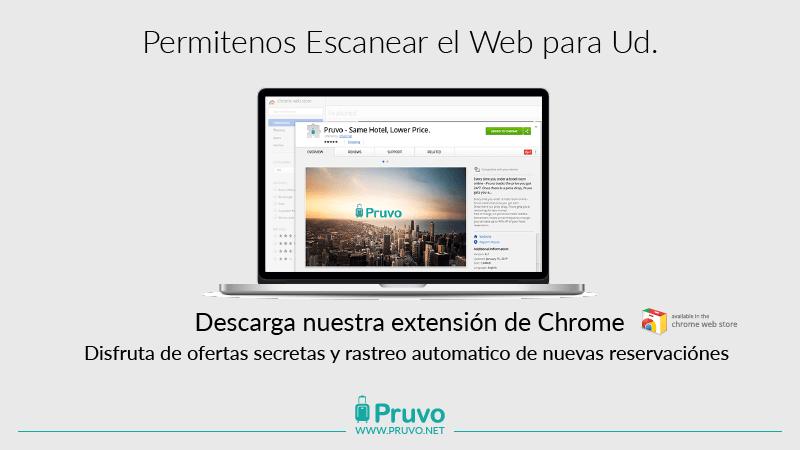 Extensión Chrome de Pruvo