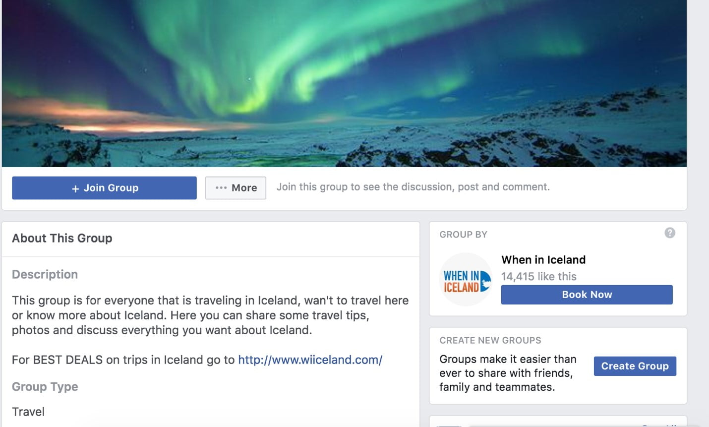 using FB to research for your trip